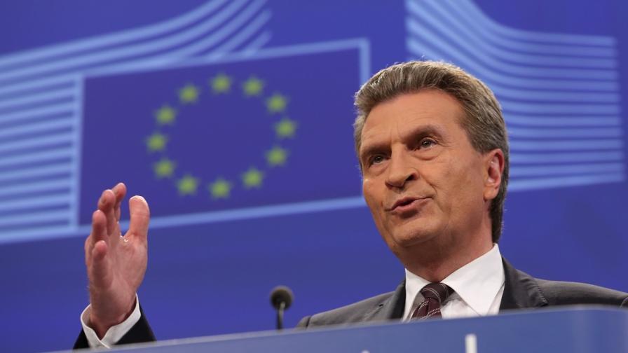 Гюнтер Йотингер: Дебатите относно селскостопанските разходи и политиката по сближаване са трудни