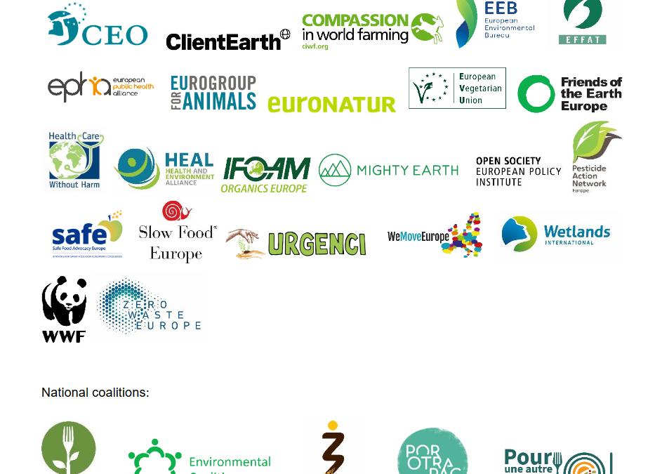 """30 европейски организации на гражданското общество с призив към лидерите на ЕС за привеждане на новата  ОСП с целите на Зелената сделка, стратегията """"От фермата до трапезата"""" и Биоразнообразие 2030"""