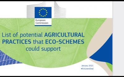 . Комисията публикува списък с потенциални селскостопански практики, които еко-схемите биха могли да подкрепят в бъдещата обща селскостопанска политика (ОСП).